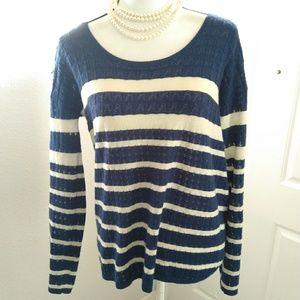 Soft Joie blue knit sweater size medium